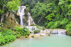 Kwangsi Waterfall, Laos